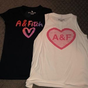 Girls summer shirts- size 11/12